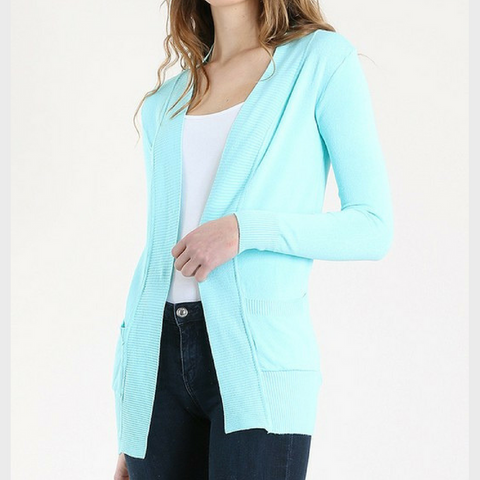 Open Cardigan - Mint