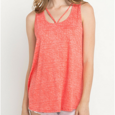 Marled Strappy Tank