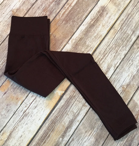 Fleece Lined Leggings - Coffee