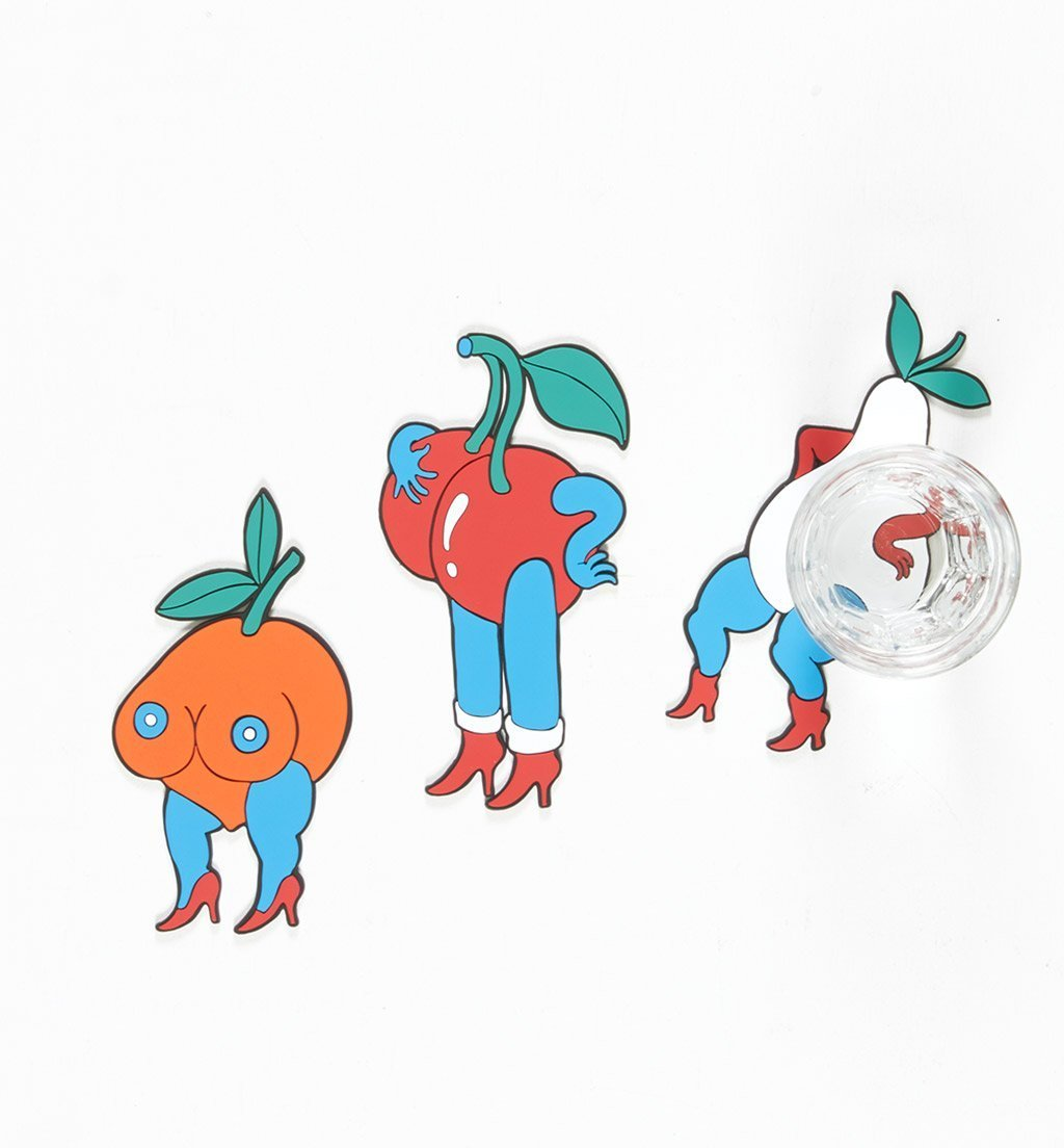 Parra - walking orange coaster