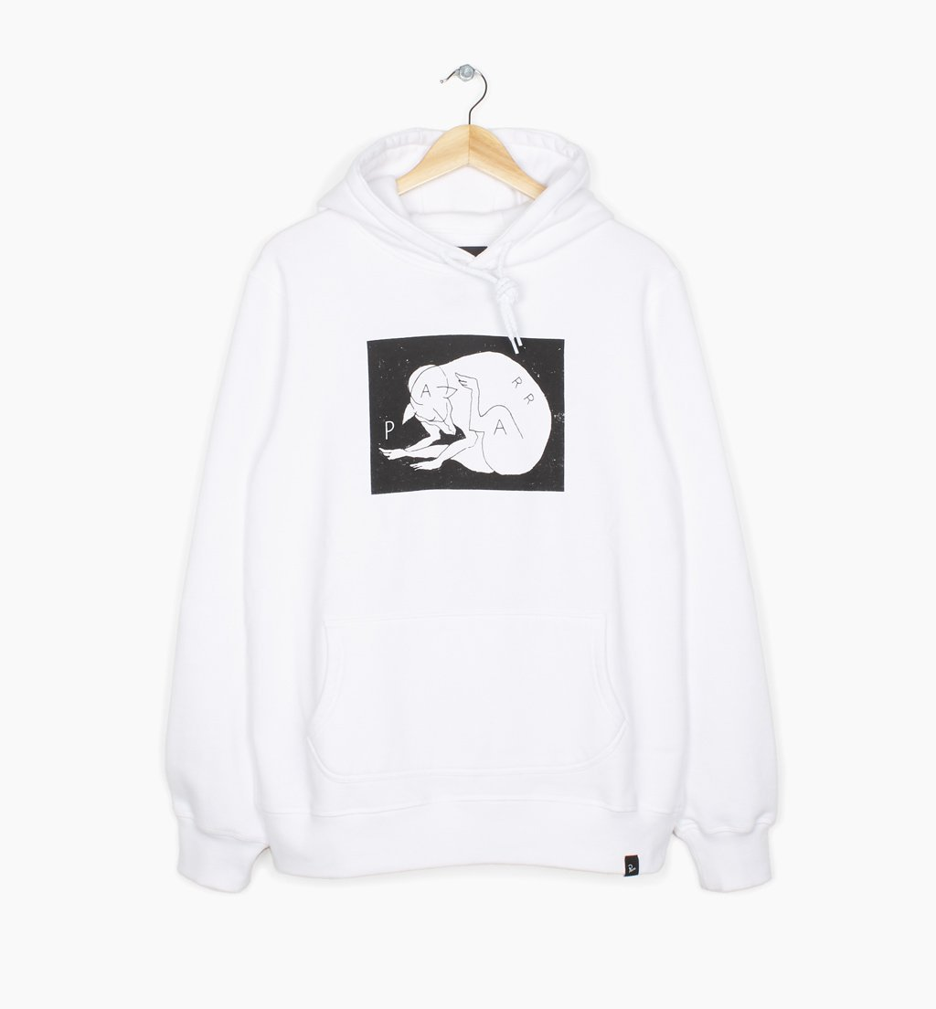 Parra - scratch dog hooded sweatshirt