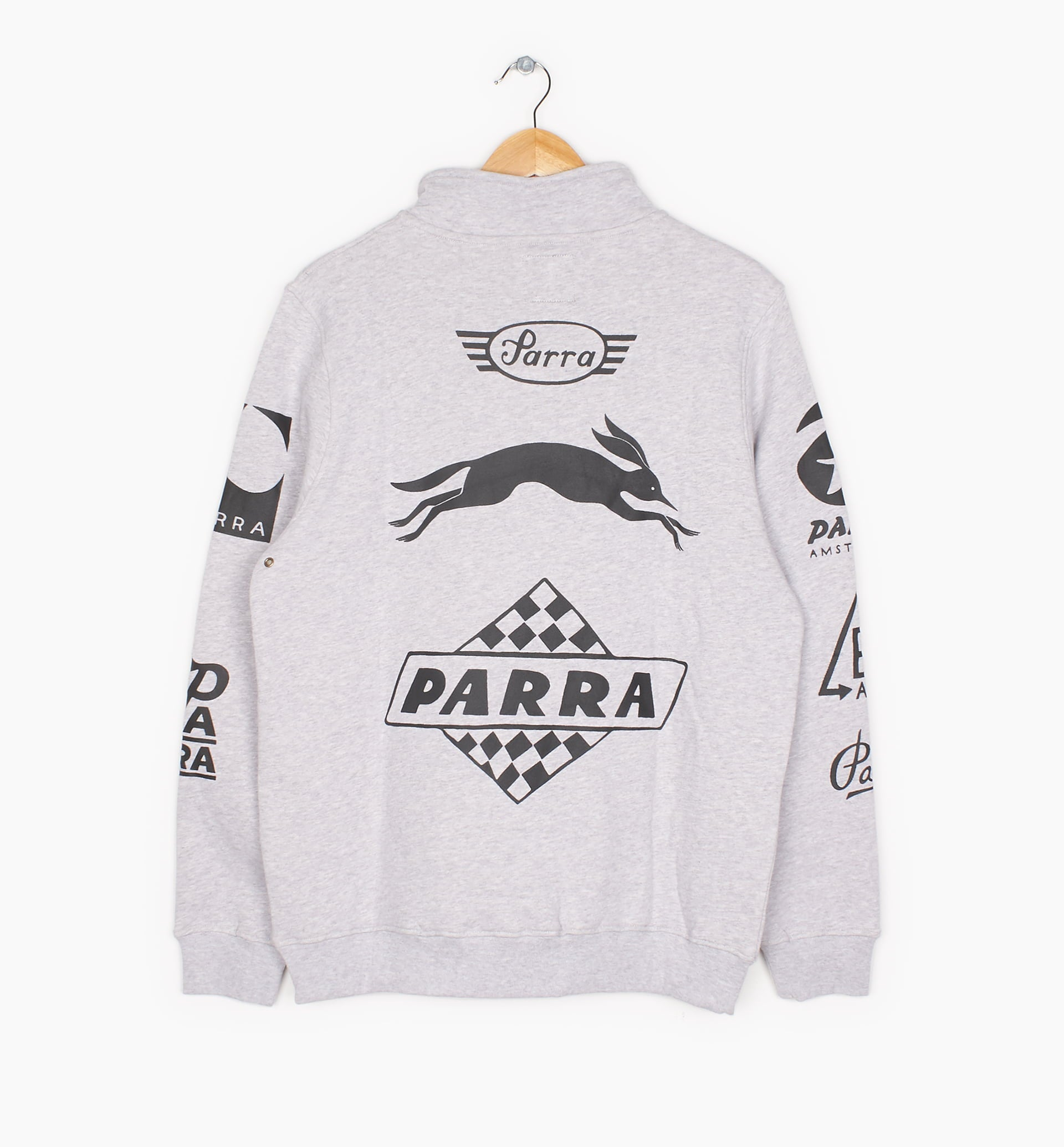 Parra - sponsored quarter zip sweater