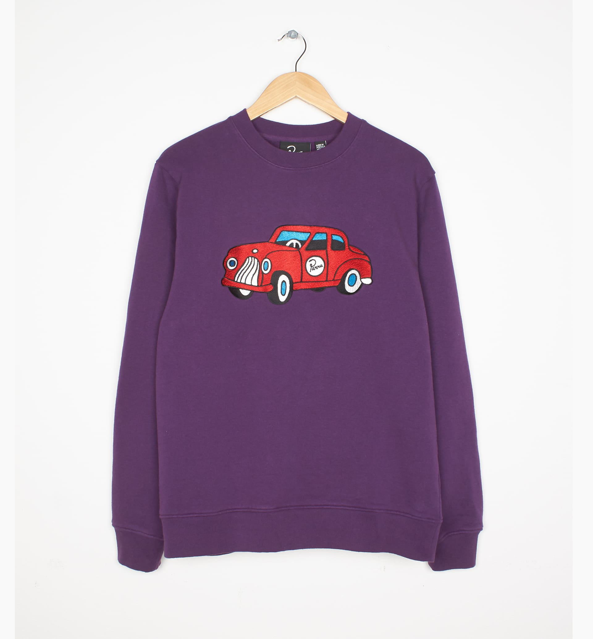 Parra - toy car crew neck sweatshirt