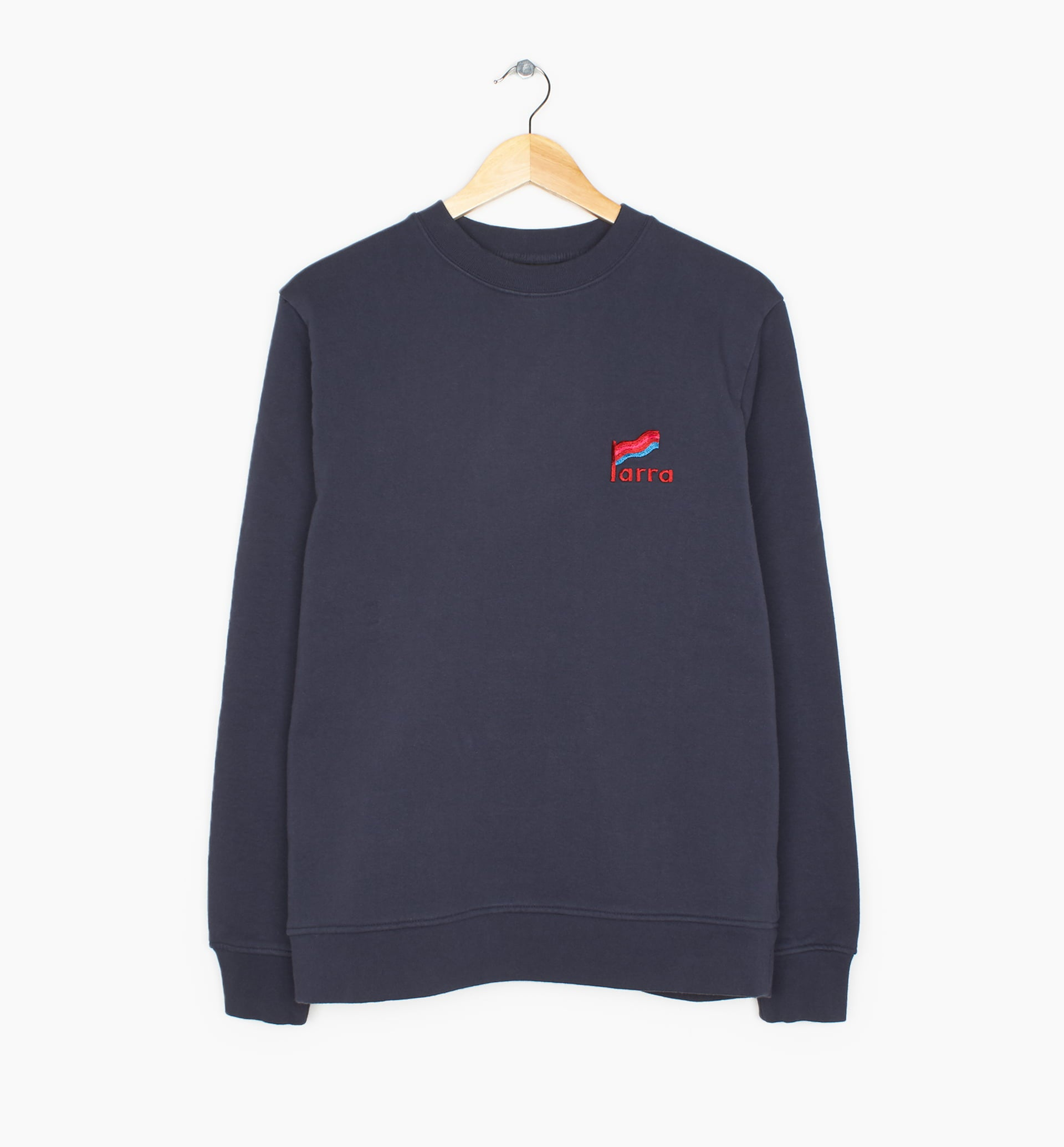 Parra - striped flag crew neck sweatshirt