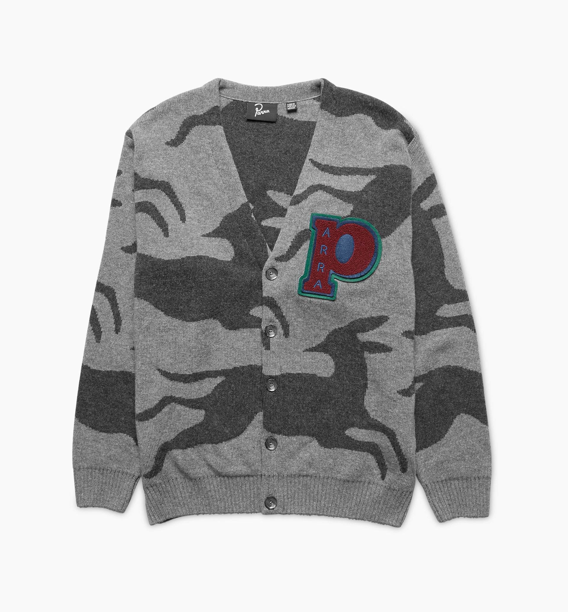 Parra - jumping foxes knitted cardigan