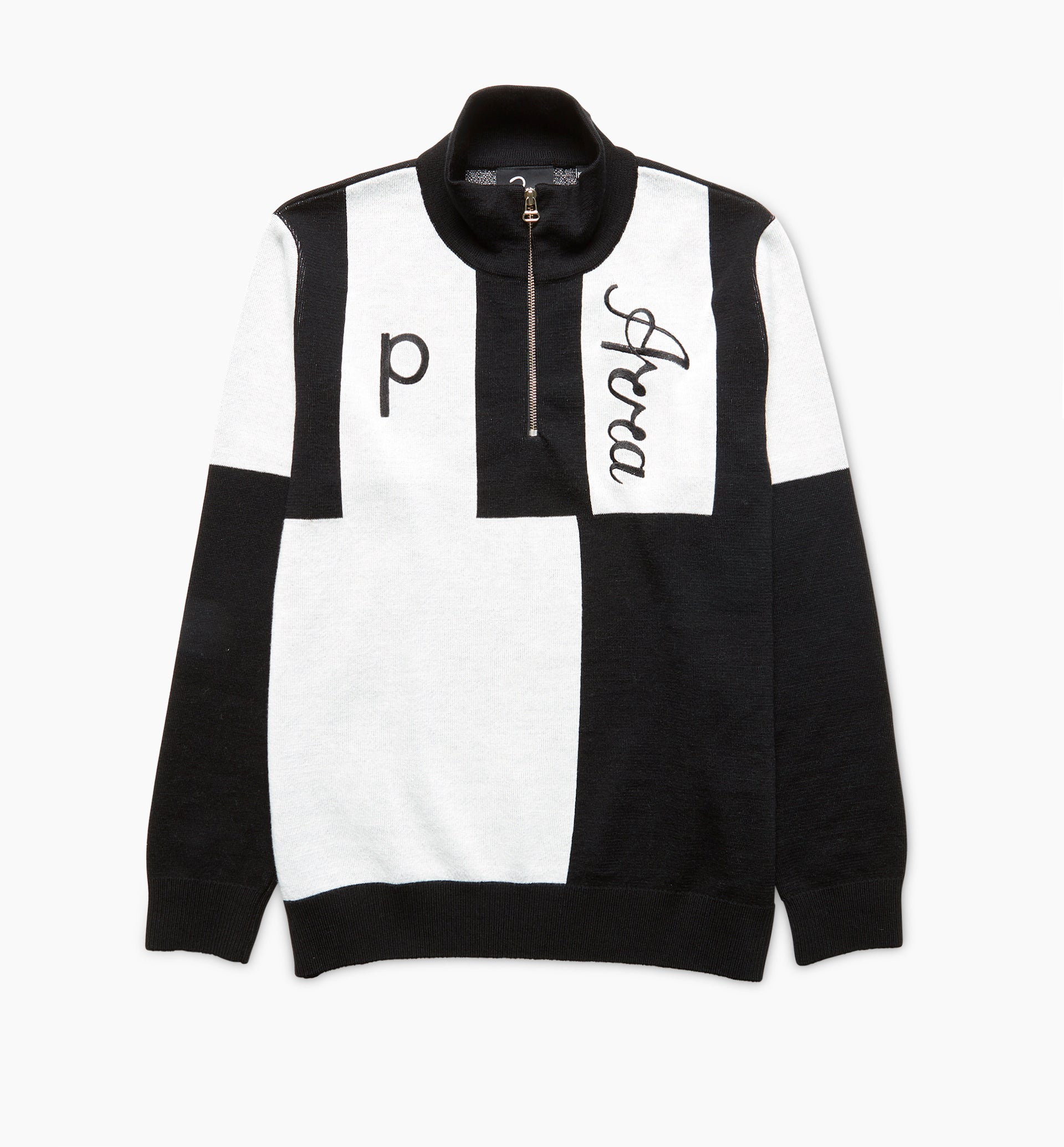 Parra - quarter zip knitted pullover