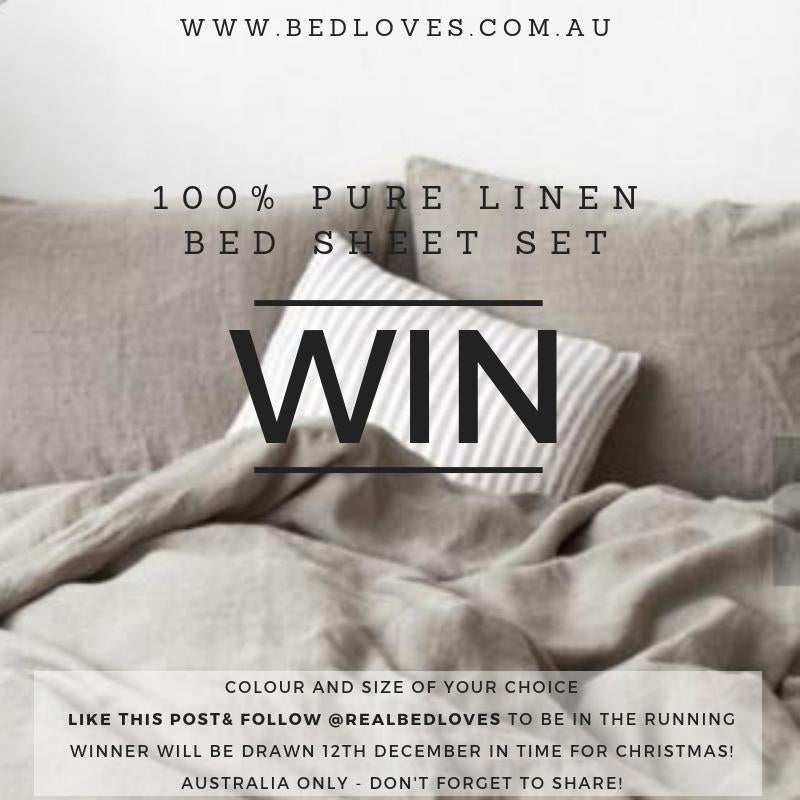 Win 100% Pure Linen Bed Sheet Set