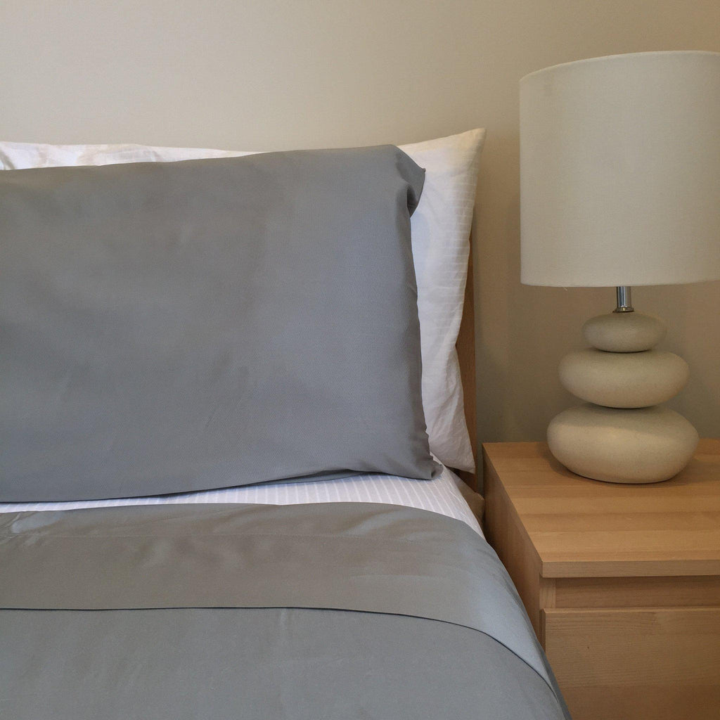 Bamboo bed sheets to help you sleep through the hot and humid summer.