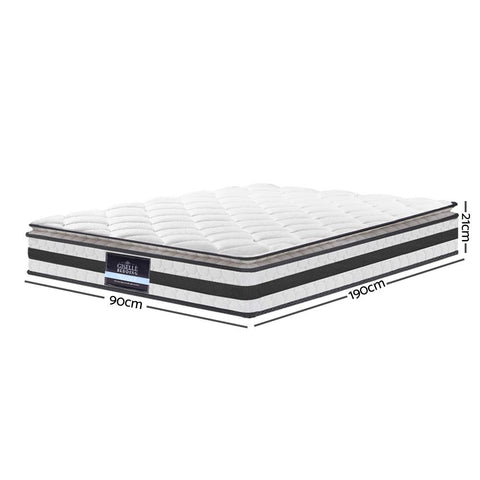 Image of Single Size Pillow Top Foam Mattress