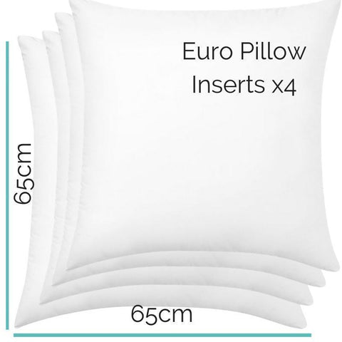 Image of European Pillow Inserts - Set of 4