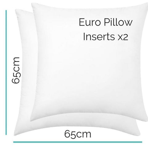 European Pillow Inserts - Pair