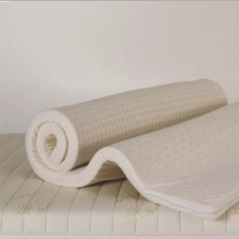 Premium Natural Latex Topper with Washable Cover - 4cm Thick