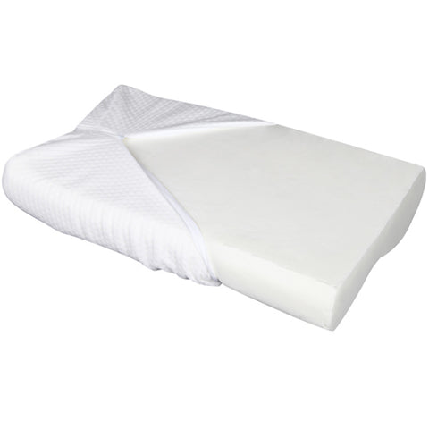 Pillow - Cool Gell Memory Foam Contoured Pillows x 2 (For Sore Necks)-bedloves