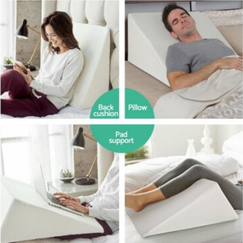 Pillow - Bed Wedge Pillow for Sore Backs or Leg Elevation
