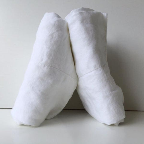 100% Flax Linen Pillowcase Pair - White