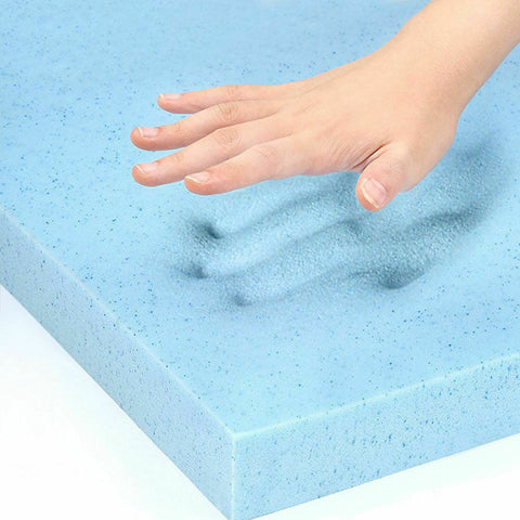 Image of Cool Gel Memory Foam Mattress Topper Bamboo Fabric - 5cm Thick