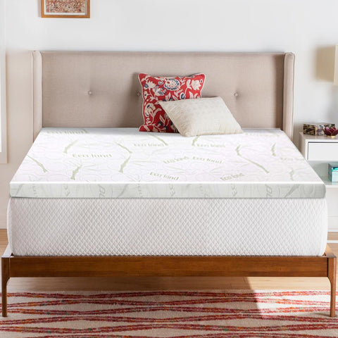 Mattress Topper - Cool Gel Memory Foam with Bamboo Cover