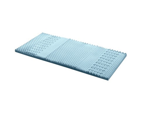 Image of 7 Zone Visco Memory Foam Mattress Topper - 5cm or 8cm - For Sore backs