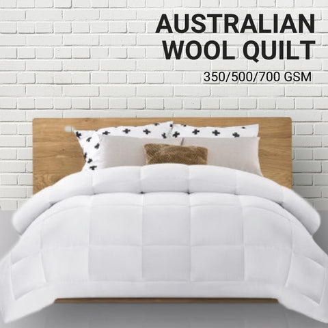 Image of Australian Wool Doona Duvet Quilt 350/500/700gsm (Summer/Mid/Winter Season)
