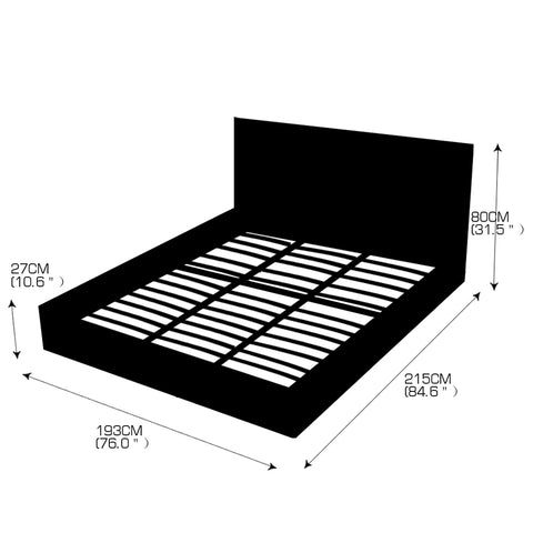 Image of Levede Gas Lift Storage Collection Bed Frame King