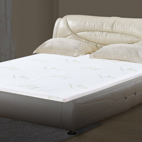 Image of Cool Gel Memory Foam Mattress Topper with Bamboo Cover - 8cm Thick
