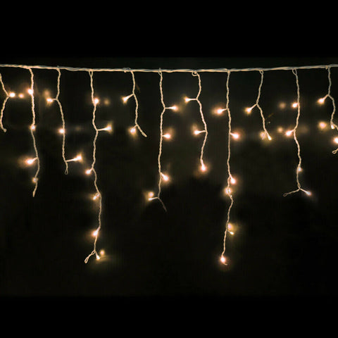 Image of 800 LED Curtain Fairy String Lights Wedding Outdoor Xmas Party Lights Warm White