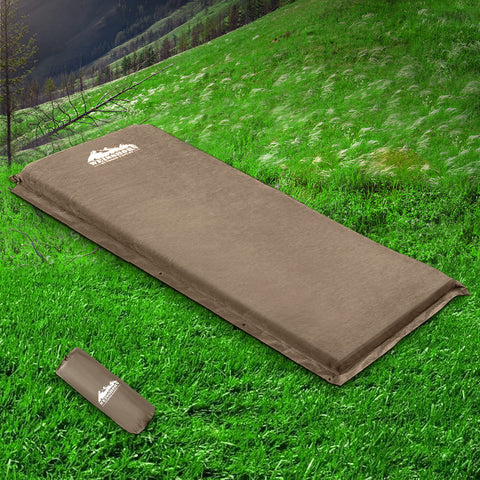 Single Size Joinable Self Inflating Matress - 10cm Thick - Beige