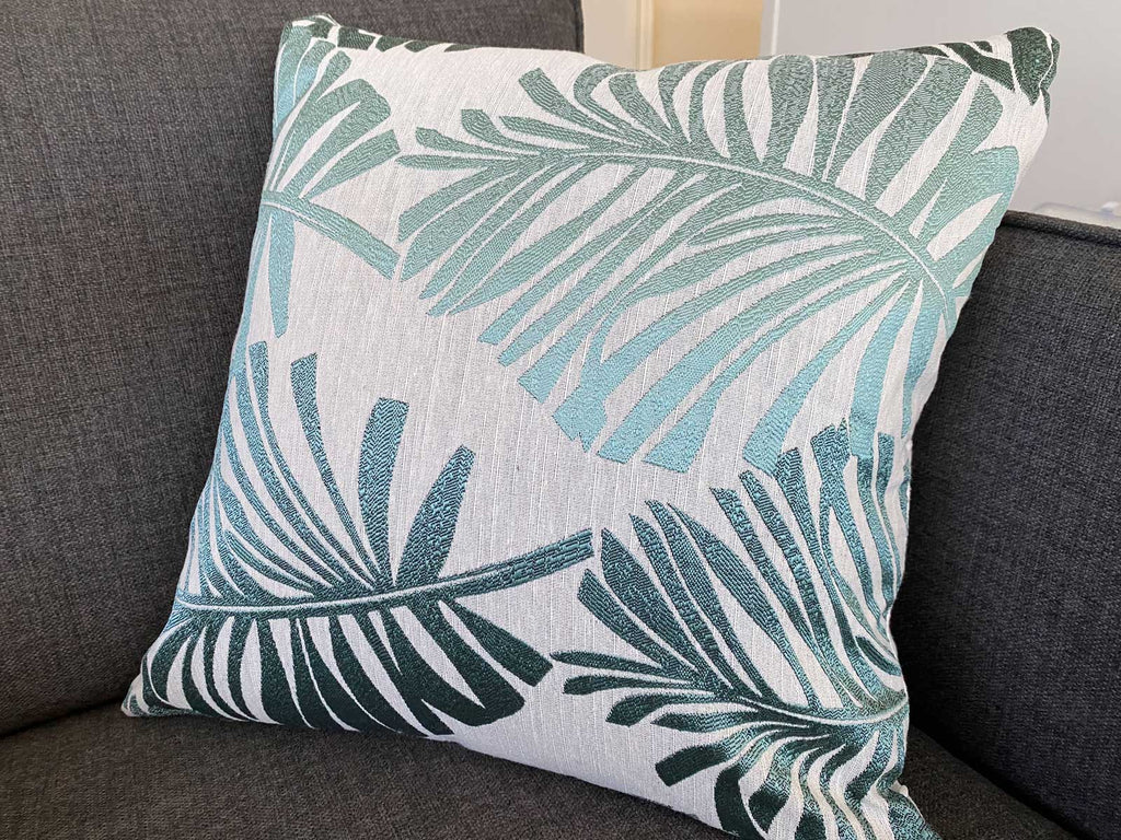 Linen Tropical Palm Cushion Covers - 4 Pack