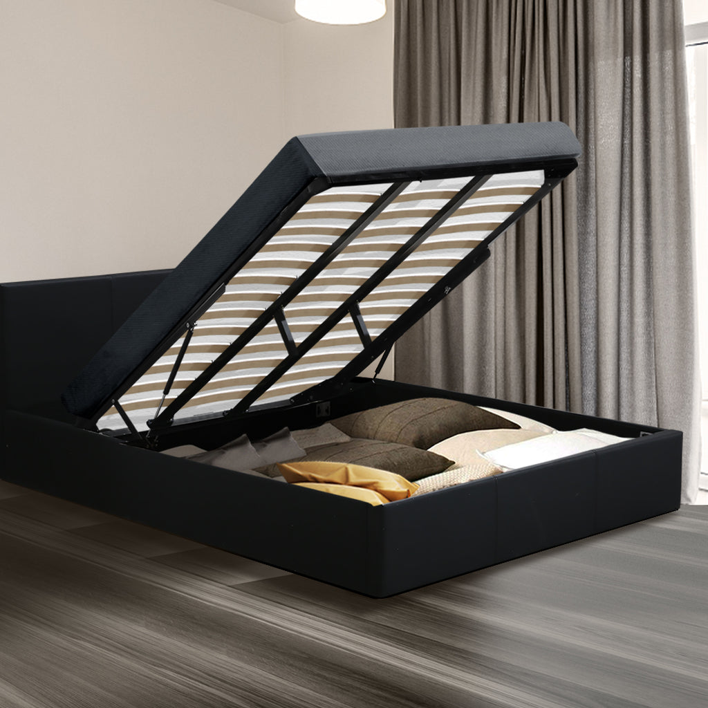Levede Gas Lift Storage Collection Bed Frame King