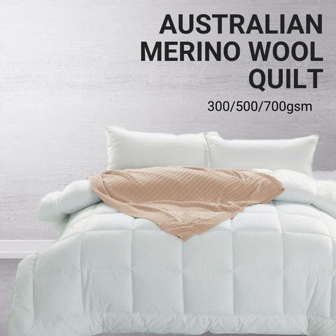 Image of Australian Merino Doona Duvet Quilt - 200/350/500/700gsm (Summer/All Season/Winter)