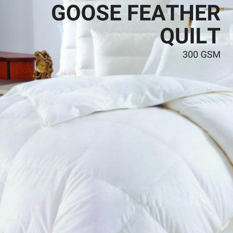 100% Goose Feather Quilt 300 GSM