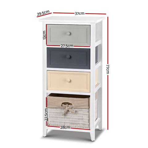 Image of Bedroom Storage Cabinet - White