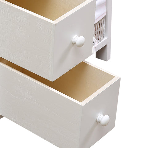 Image of Levede Bedside Tables Chest of 5 Drawers Wood Storage Cabinet Bedroom Furniture