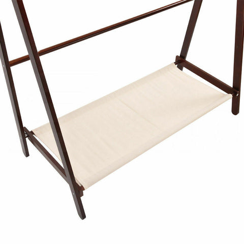 Image of Levede Clothes Stand Wooden Wardrobe
