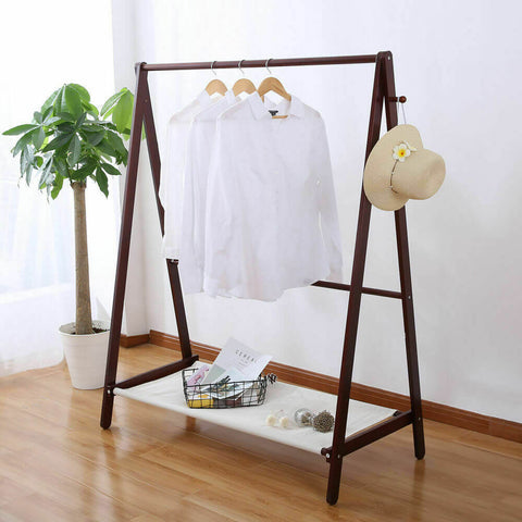 Levede Clothes Stand Wooden Wardrobe