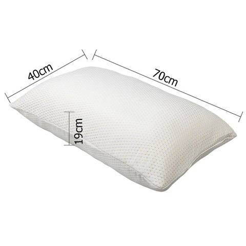 Pillow - Visco Elastic Memory Foam x 2 (19cm thick)