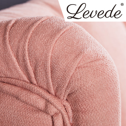 Image of Levede Bed Frame Velvet Base Bedhead Headboard Queen Size Wooden Platform Pink
