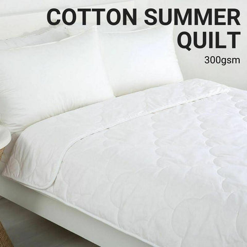 Lightweight Summer Cotton Quilt 300gsm-bedloves