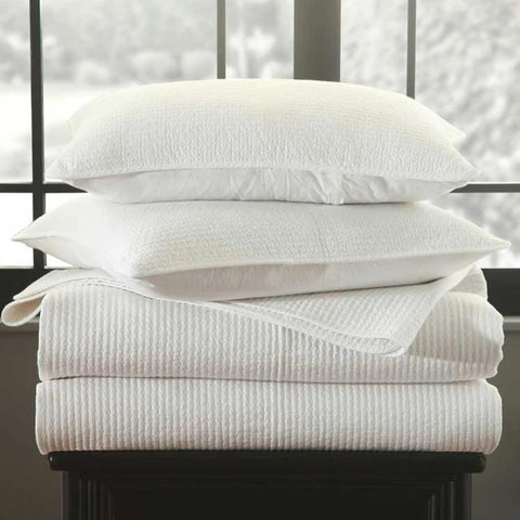 Image of White Cotton Quilt Set - Claudette by MM Linen-bedloves