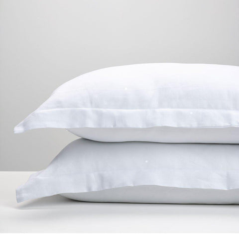 Image of White Linen Double Doona Cover - 50% OFF!-bedloves