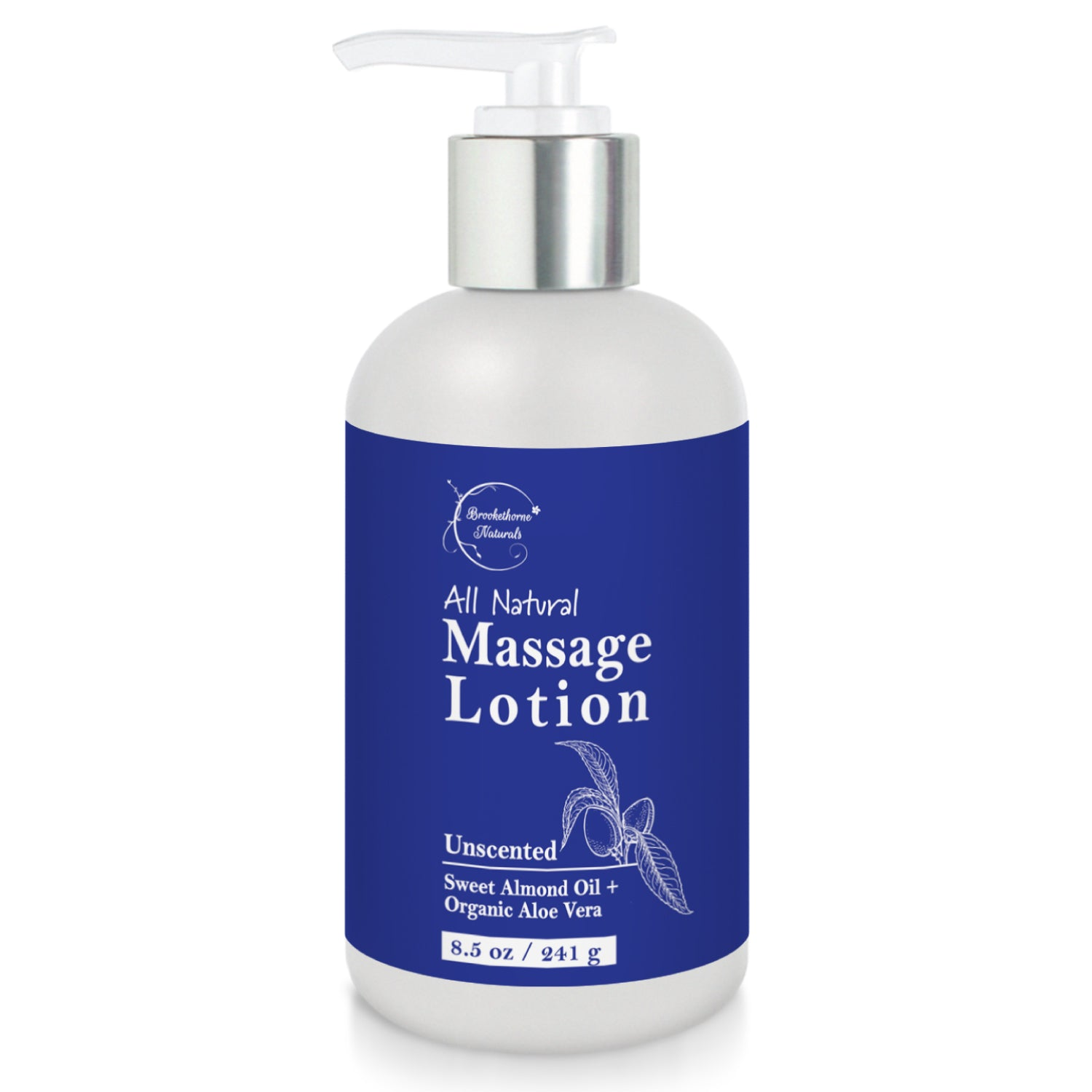 All Natural Massage Lotion (Unscented) - 8.5oz