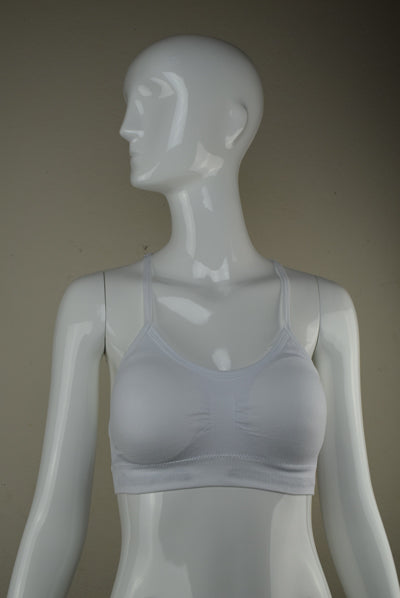 Dub City White Sports Bra Lace Back