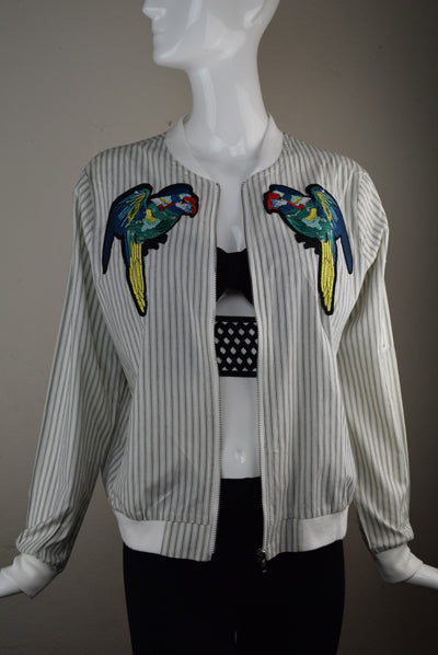Dub City White Pinstripe Coat