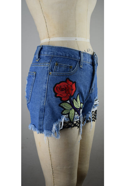 Dub City Shorts with Flower
