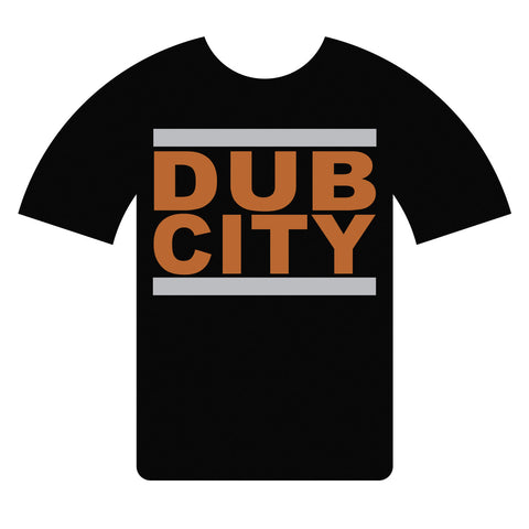 Dub City Black and Orange T-shirt
