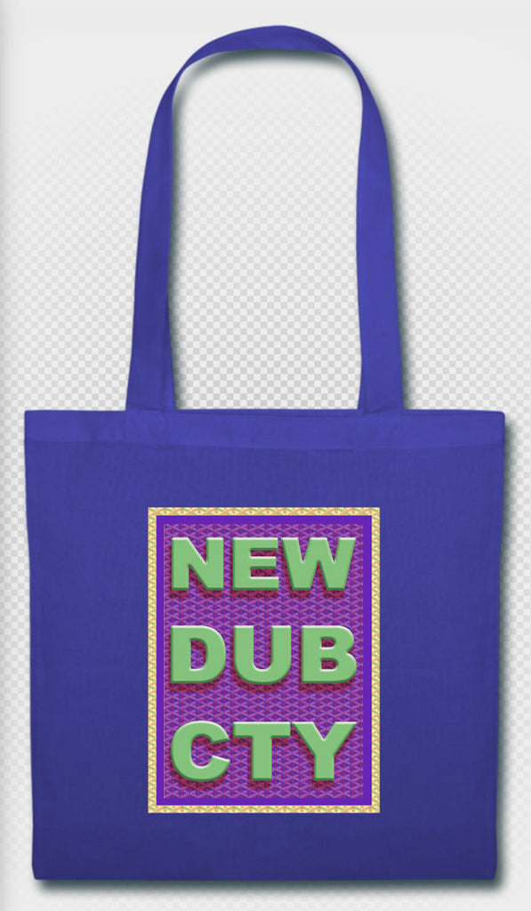 NEW DUB CTY Tote Bag-BLU
