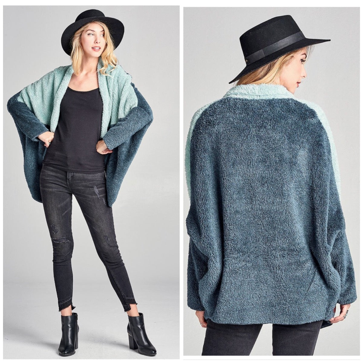 Got the Blues Fuzzy Cardi - BohoLocoBoutique