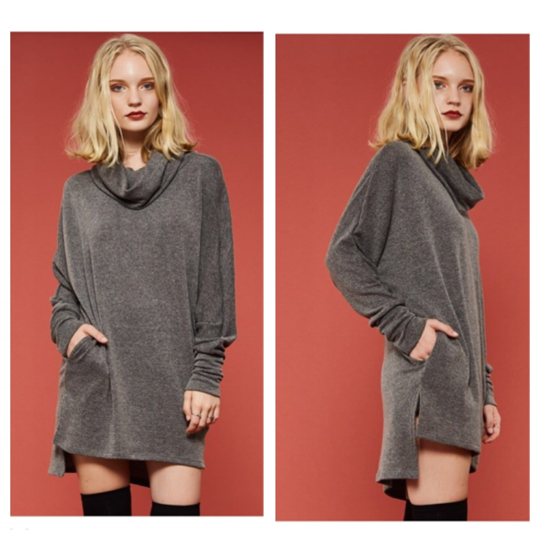 Cowl Neck Cozy Lounge Tunic