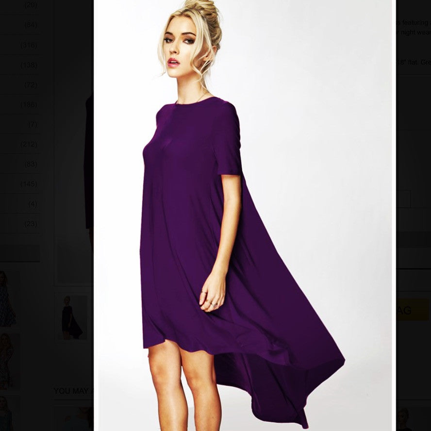 Deep Purple Flyaway Tunic Dress - BohoLocoBoutique