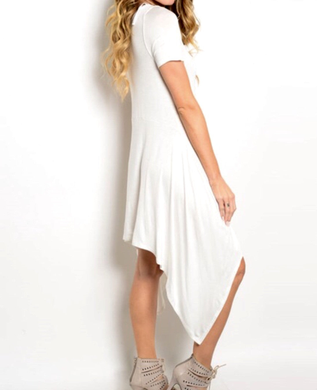 Asymmetrical Tee Tunic Dress - BohoLocoBoutique